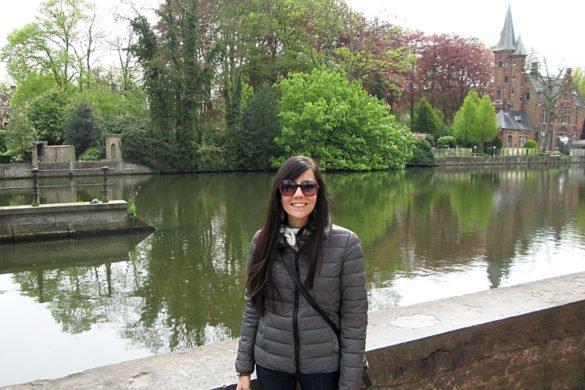 Lago dell'amore nel parco di Minnerwater di Bruges - Belgio