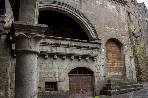 Piazza San Pellegrino-quartiere medievale Viterbo-quartiere san pellegrino Viterbo-Viterbo- Tuscia Laziale-Lazio