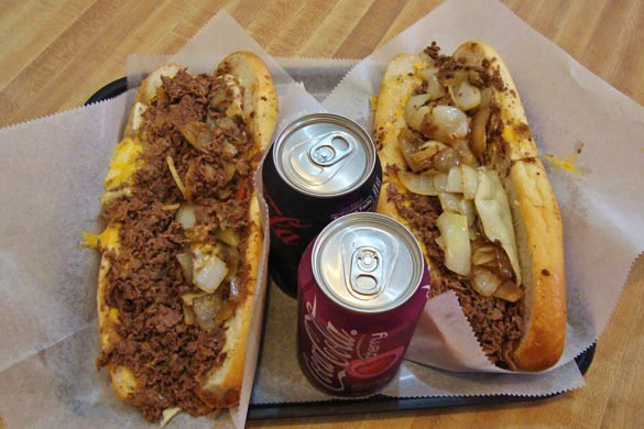 cheesesteak Philadelphia-piatto tipica Philadelphia-Philadelphia-Philly-USA-Stati Uniti