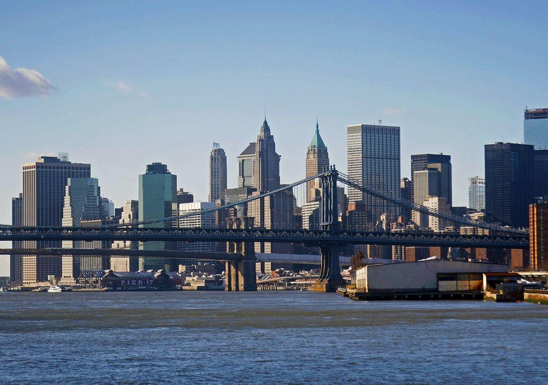 grattacieli- New York dalla barca-grattacieli New York-Stati Uniti-New York-America-USA