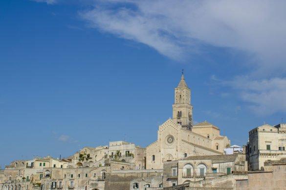 cattedrale dall'alto-sasso barisano-Matera-Basilicata-sassi Matera-Italia-cattedrale matera