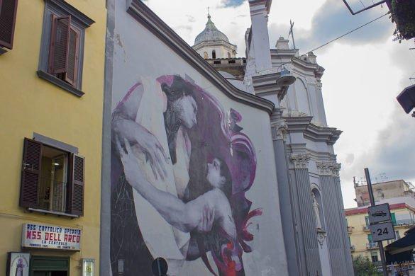 street art Napoli-street art rione sanità-Catacombe di Napoli-Napoli-Campania-Italia