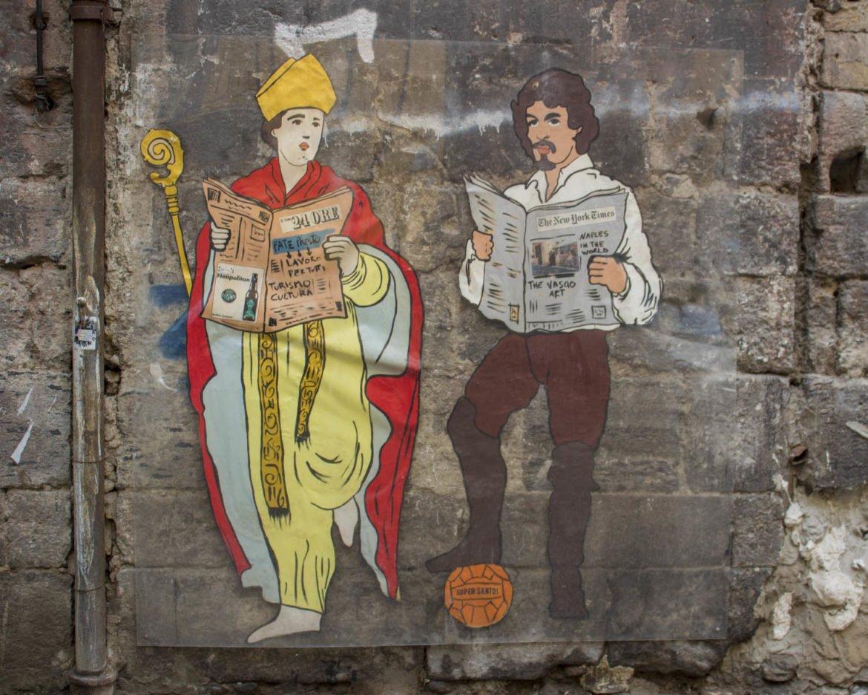 street art via dei tribunali-Napoli-Campania-Italia-Europa