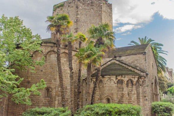 an Pau de Camp-chiesa-Barcellona-Spagna-Spain-Europa