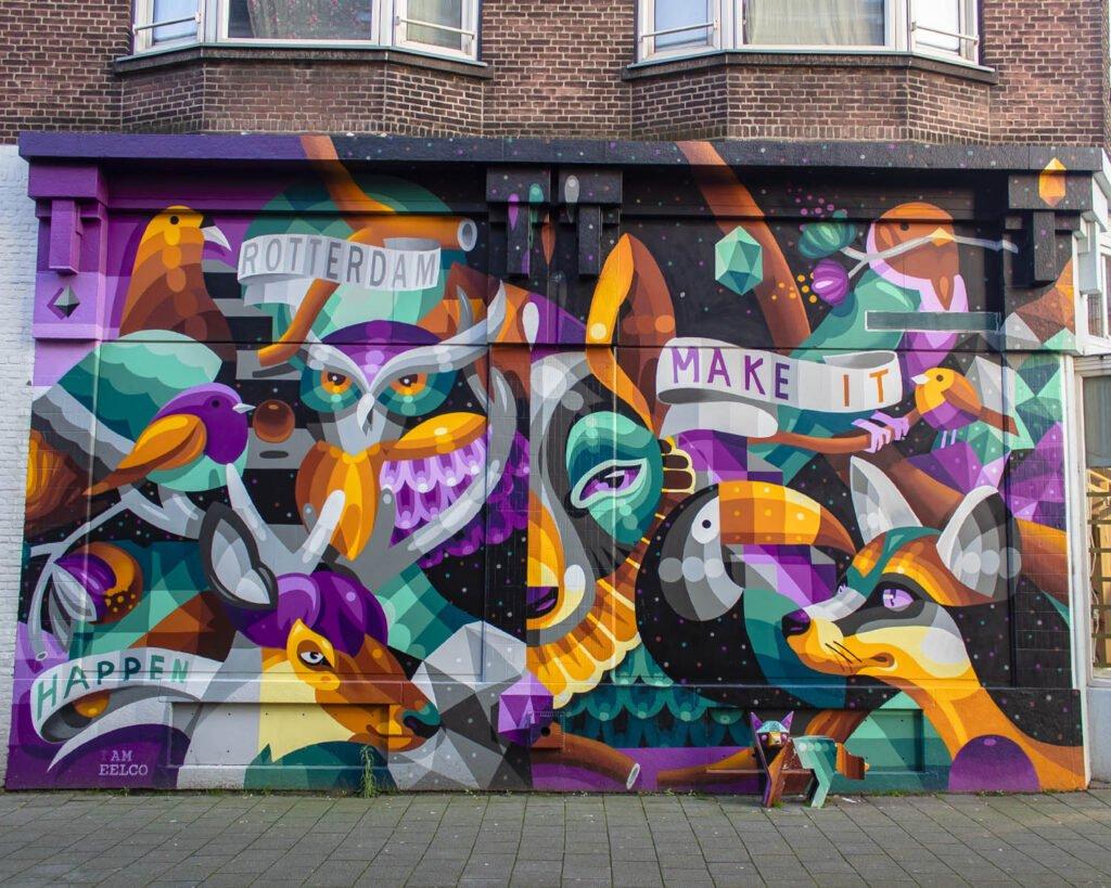 street art interattiva-Rotterdam-Olanda-Paesi Bassi-Europa