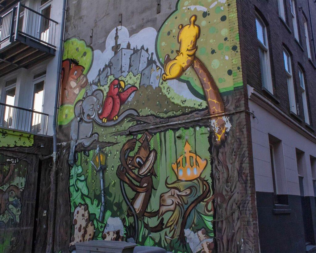 street art interattiva-make it happen-Rotterdam-Olanda-Paesi Bassi-Europa