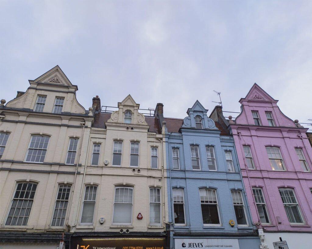 case colorate hampstead-hampstead-Londra-London- Uk-Gran Bretagna-Inghilterra