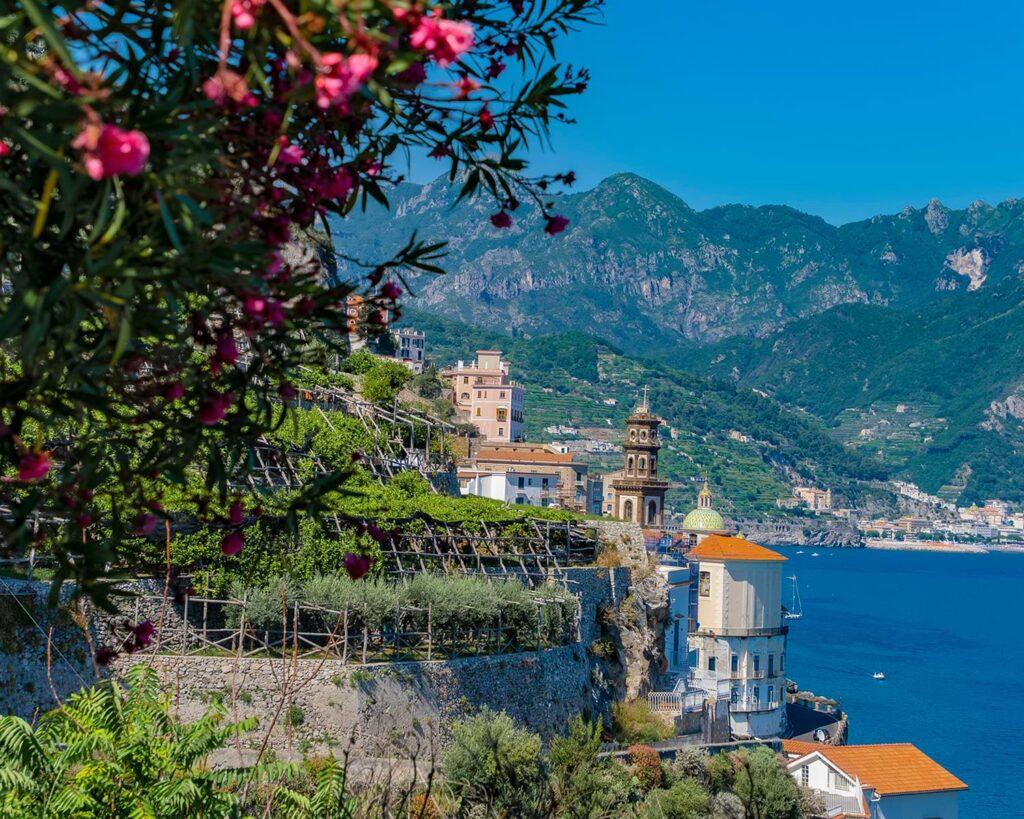 panorama atrani-amalfi-costiera amalfitana-campania